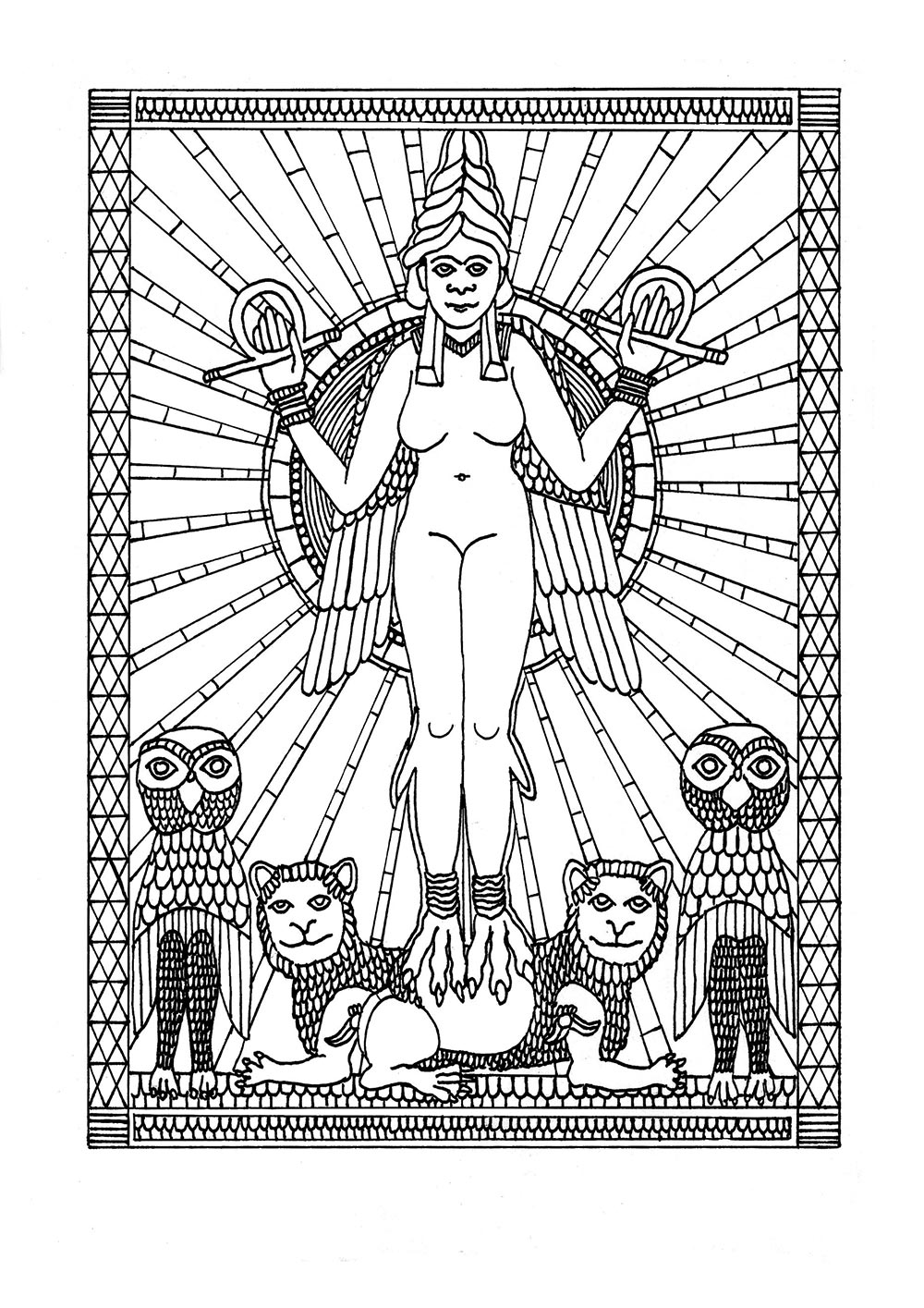 Occult coloring #8, Download drawings