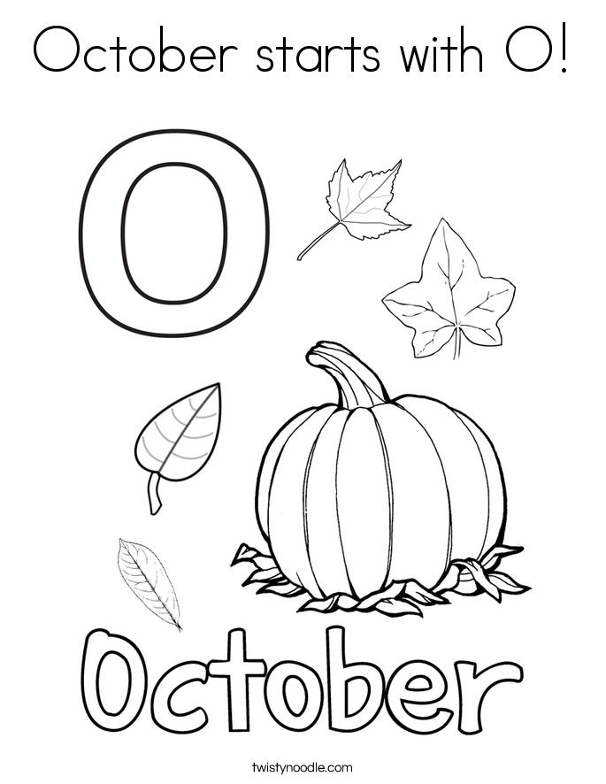 October coloring #17, Download drawings