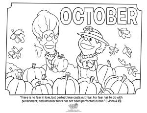 October coloring #9, Download drawings