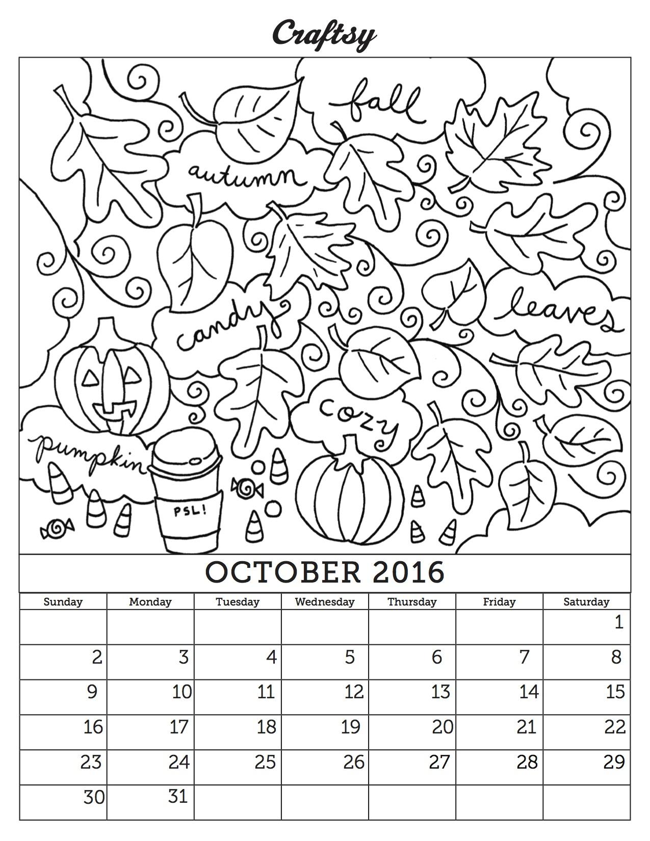 October coloring #7, Download drawings
