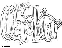 October coloring #8, Download drawings