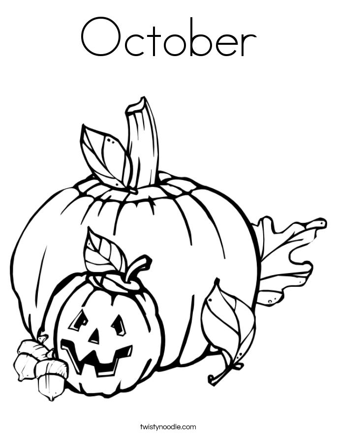 October coloring #2, Download drawings