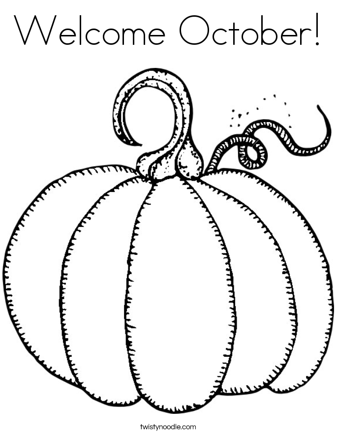 October coloring #1, Download drawings