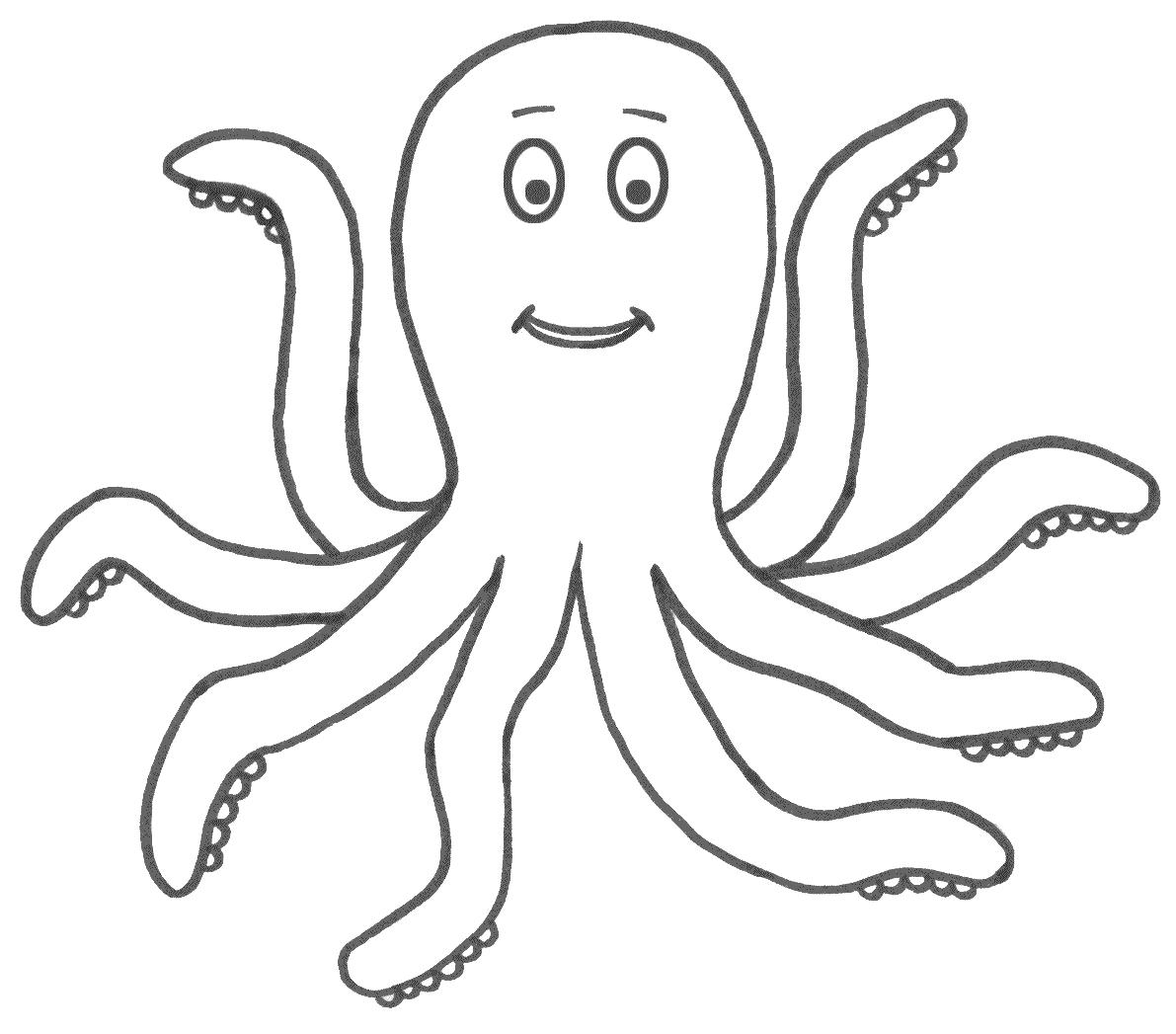 Octopus coloring #14, Download drawings