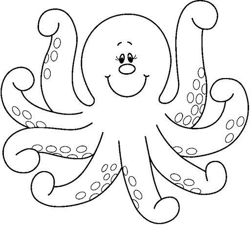 Octopus coloring #5, Download drawings
