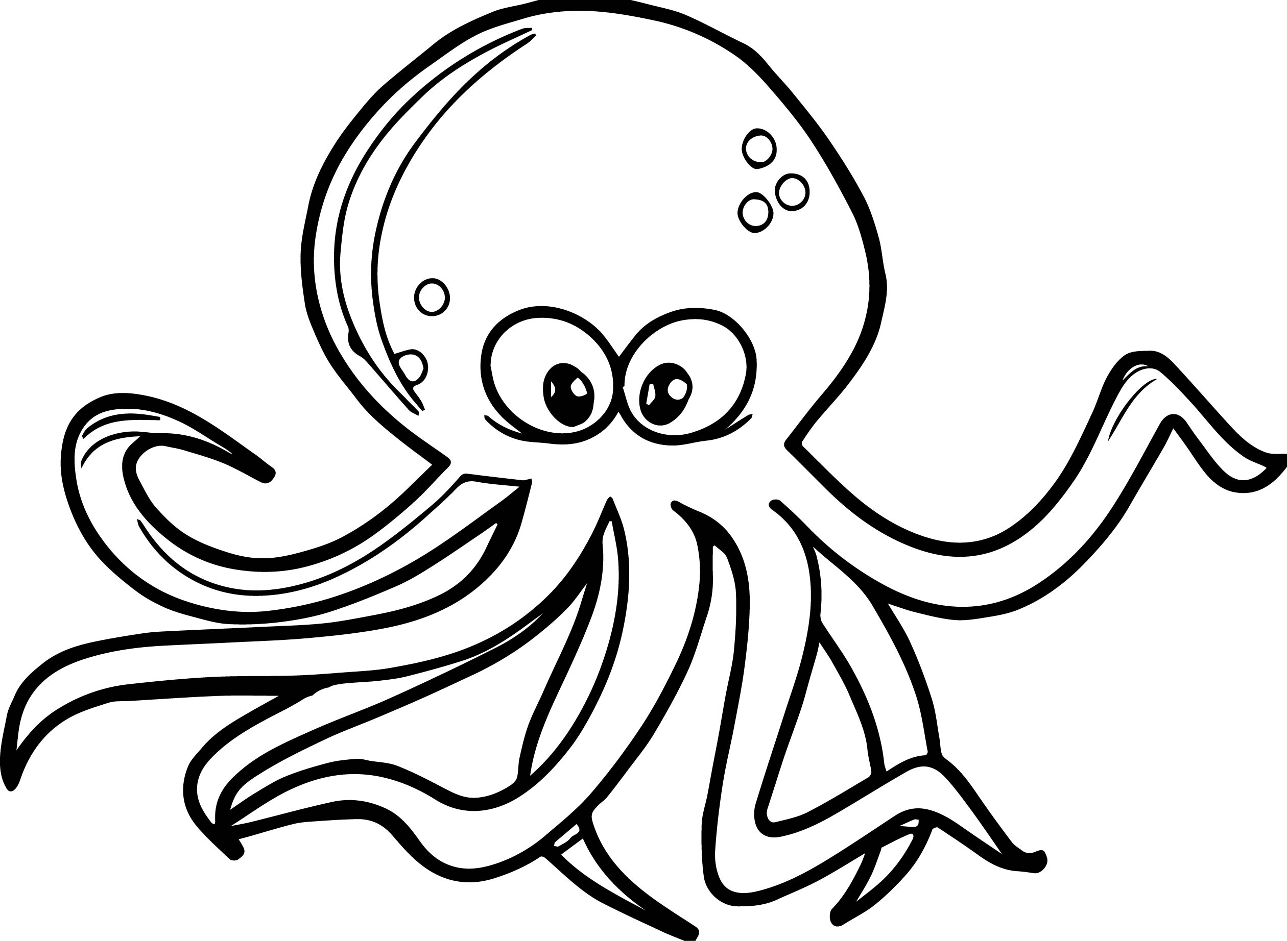 Octopus coloring #7, Download drawings