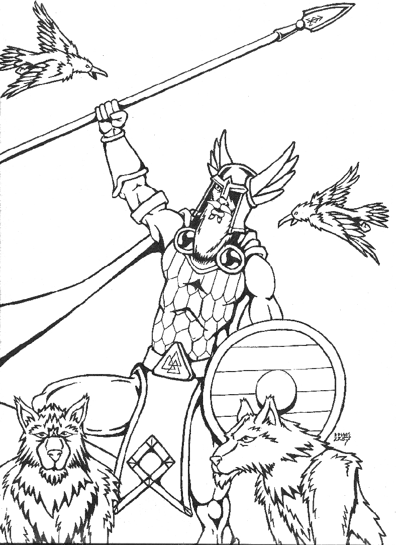 Odin coloring #12, Download drawings