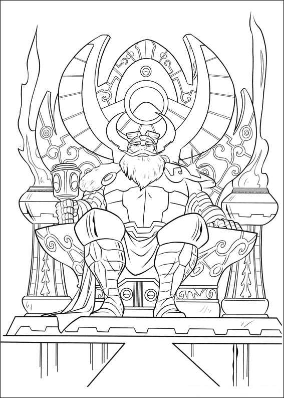 Odin coloring #3, Download drawings
