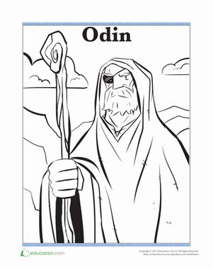 Odin coloring #1, Download drawings