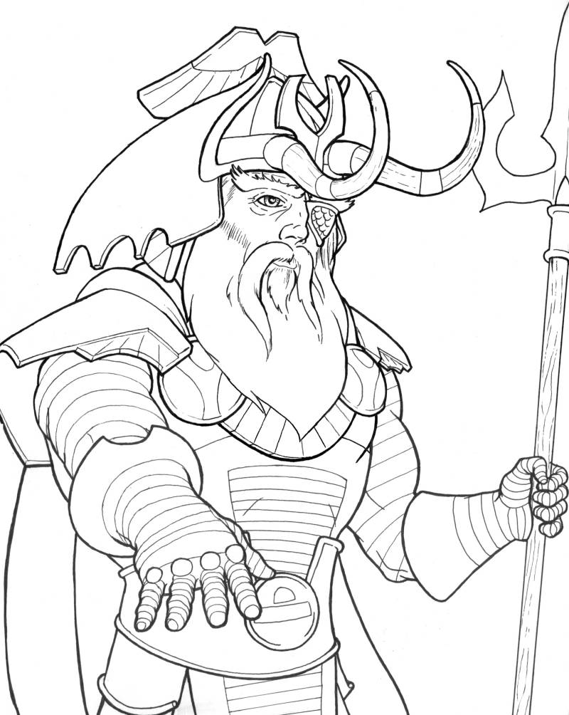 Odin coloring #8, Download drawings