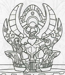 Odin coloring #4, Download drawings