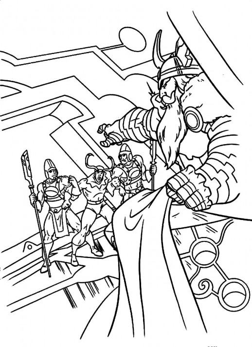 Odin coloring #7, Download drawings