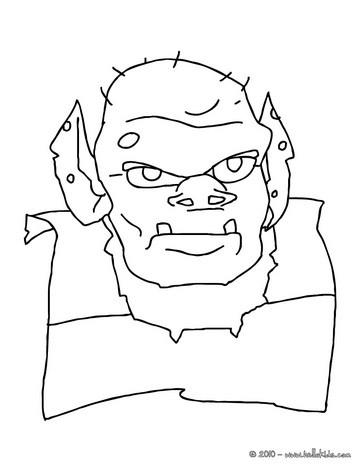 Ogre coloring #16, Download drawings
