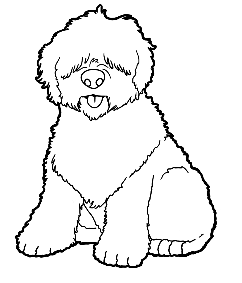 Old English Sheepdog coloring #10, Download drawings