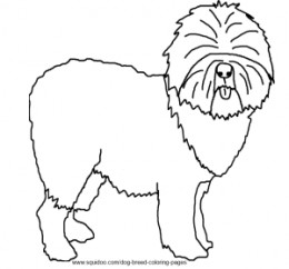 Old English Sheepdog coloring #12, Download drawings