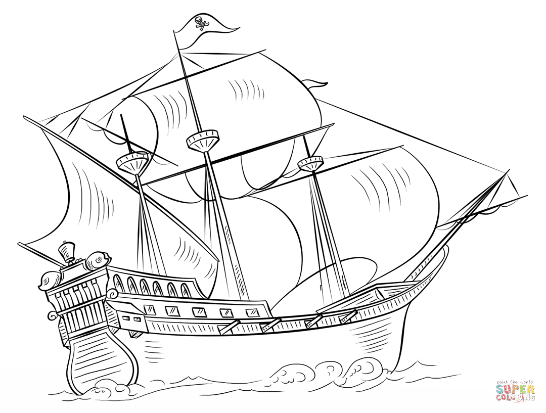 Jolly Roger coloring #11, Download drawings