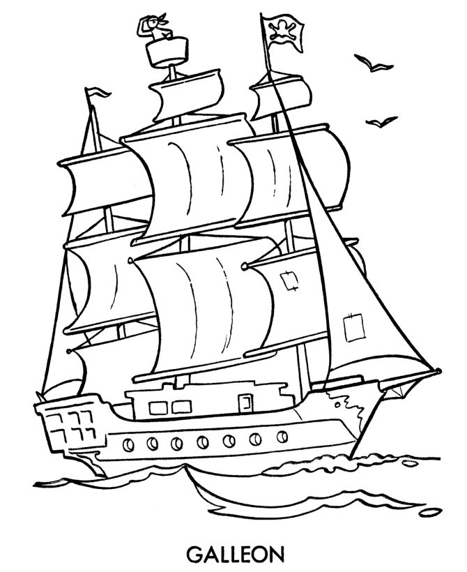 british sailing warship coloring pages - photo#34
