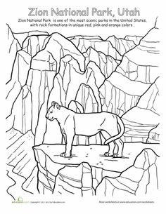 Olympic National Park coloring #17, Download drawings