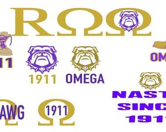 omega psi phi svg #1161, Download drawings