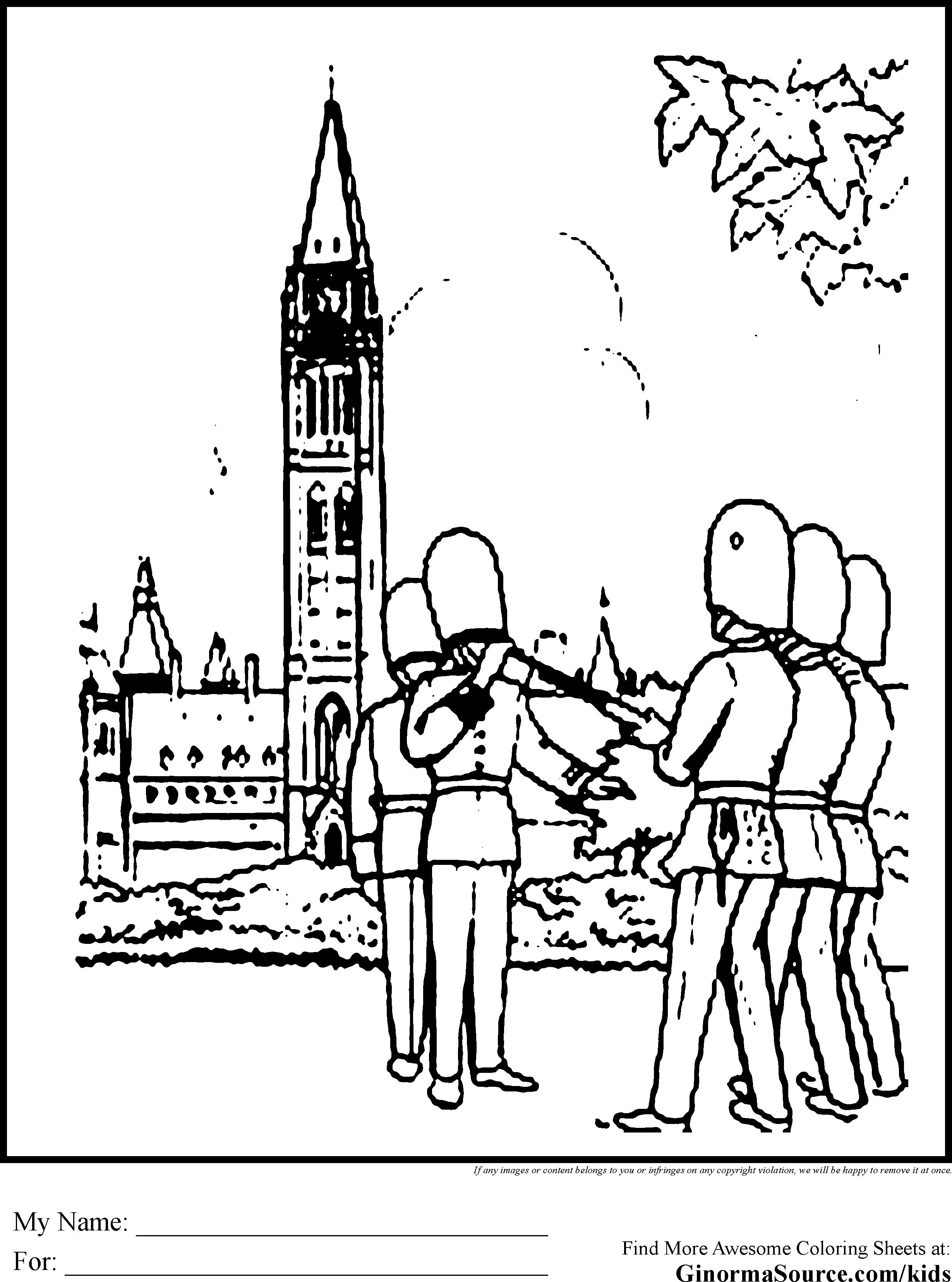 Ontario coloring #4, Download drawings