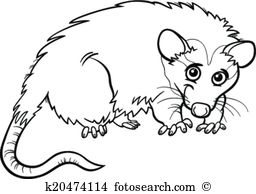 Opossum clipart #9, Download drawings
