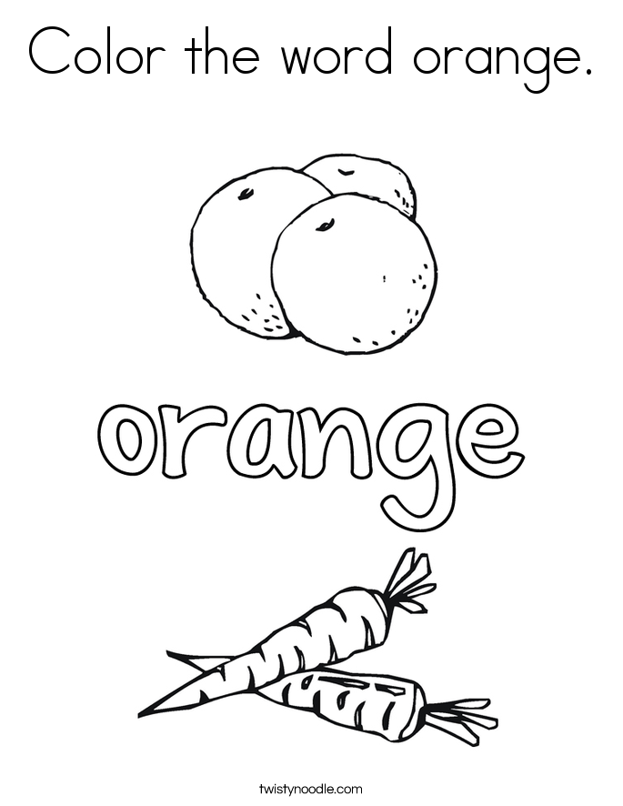 Orange coloring #17, Download drawings