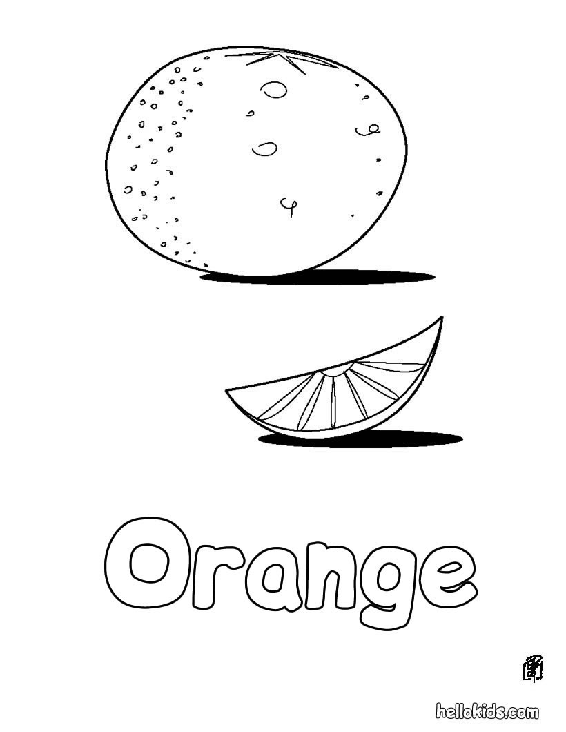 Orange coloring #10, Download drawings