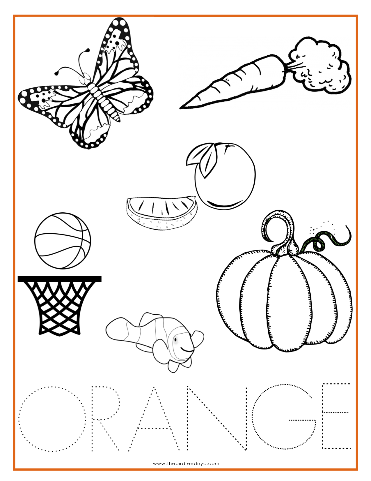 Orange coloring #3, Download drawings