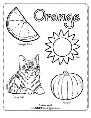 Orange coloring #1, Download drawings