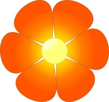 Orange Flower clipart #4, Download drawings