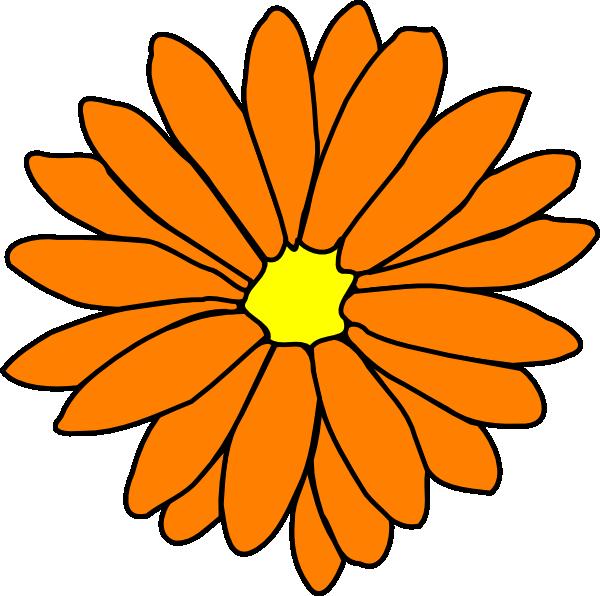 Orange Flower clipart #13, Download drawings