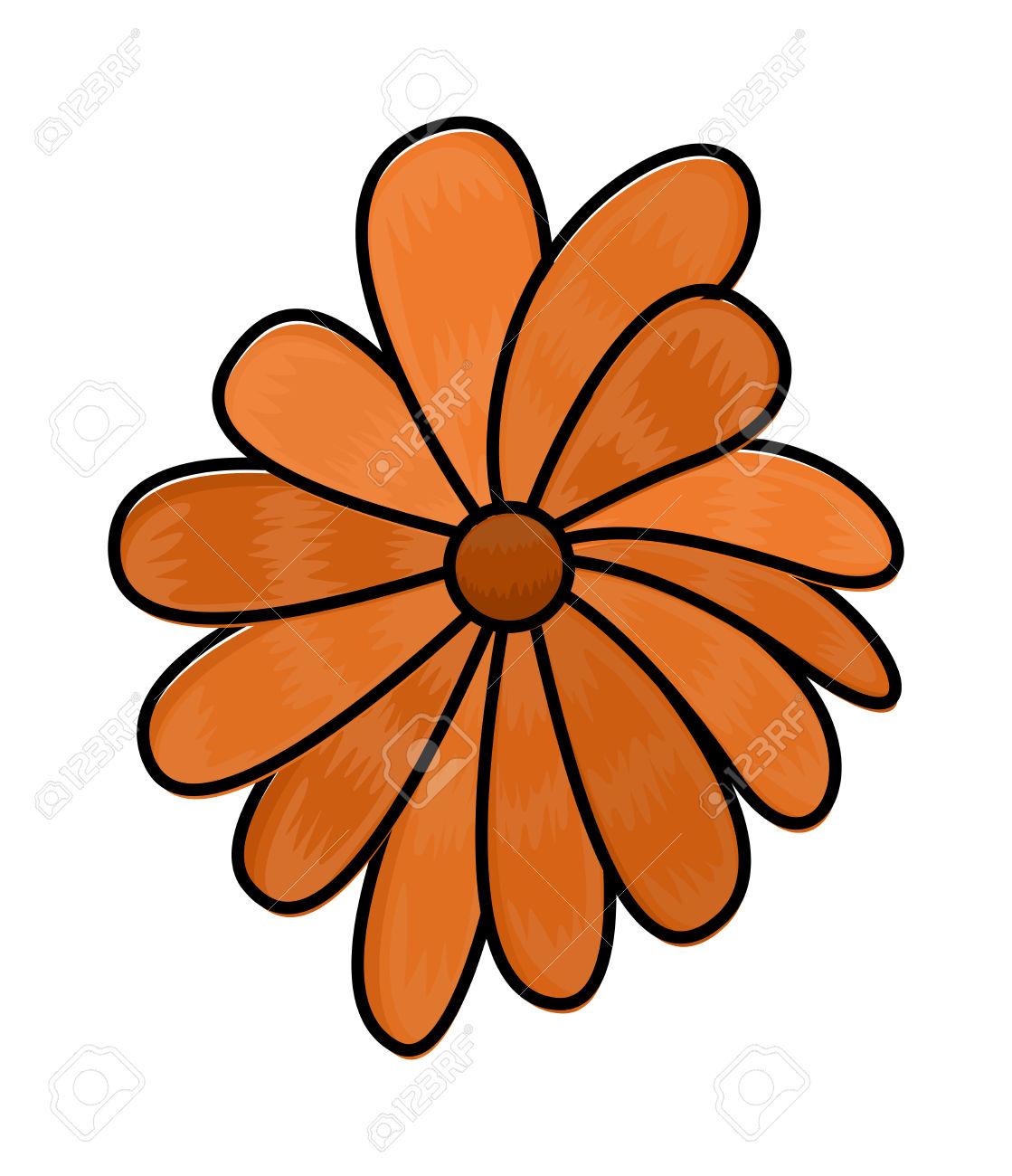 Orange Flower clipart #9, Download drawings