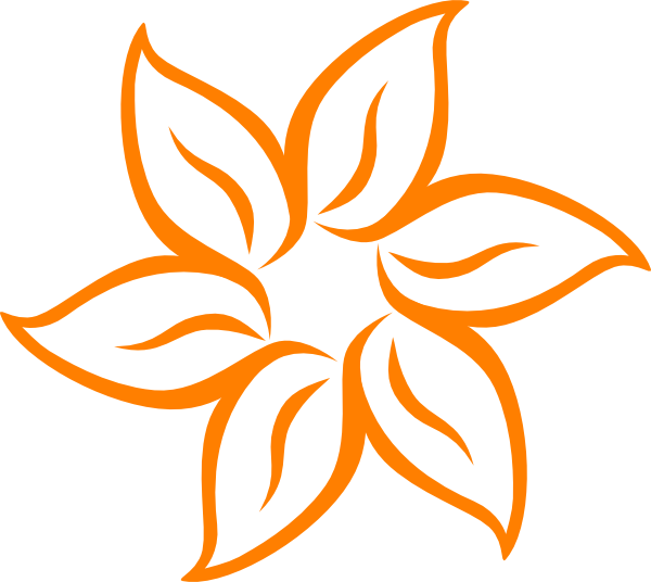 Orange Flower clipart #15, Download drawings