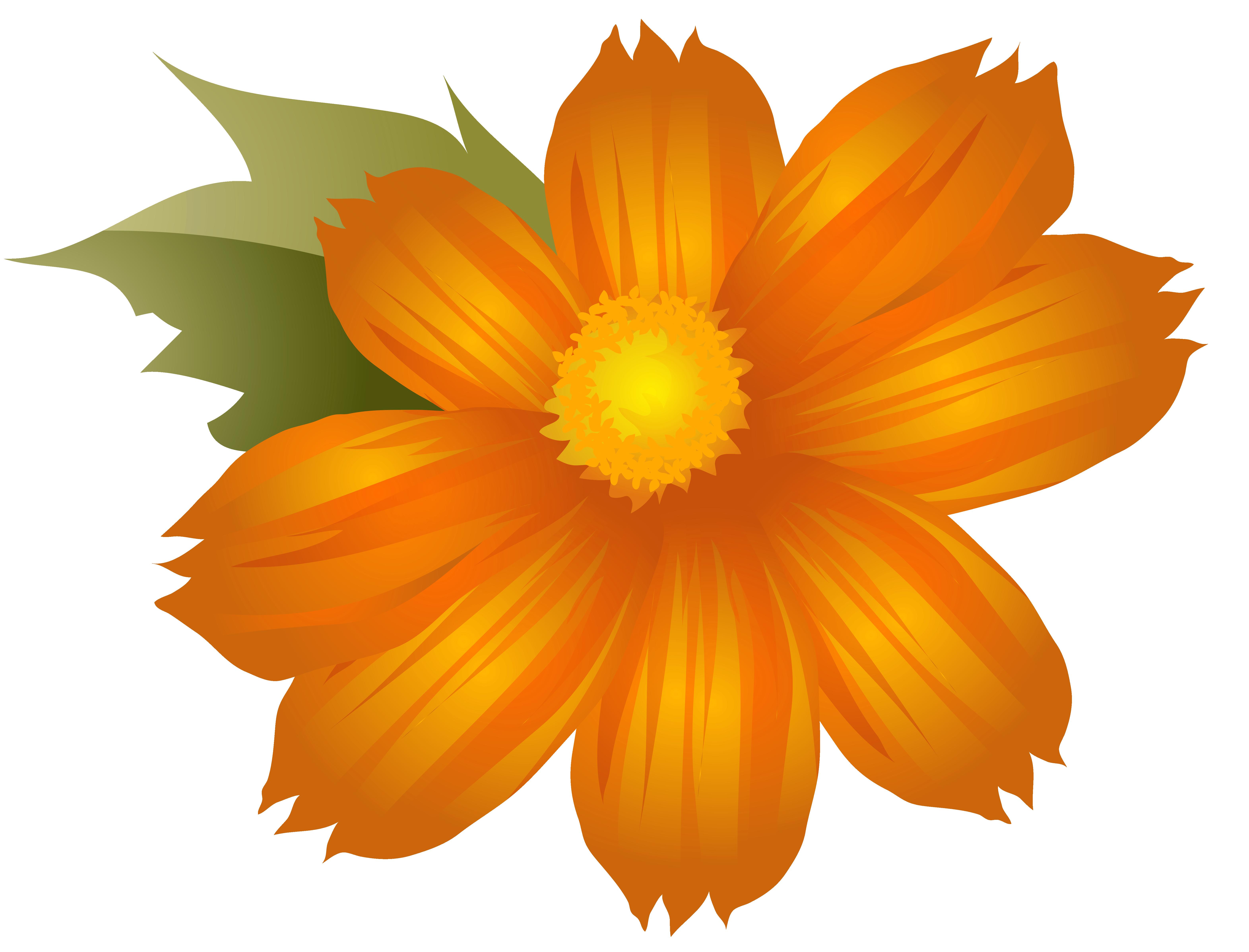 Orange Flower clipart #6, Download drawings