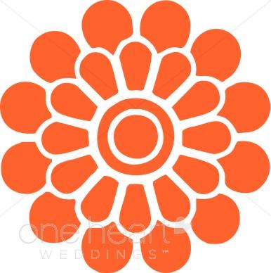 Orange Flower clipart #2, Download drawings