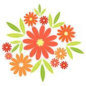 Orange Flower clipart #3, Download drawings