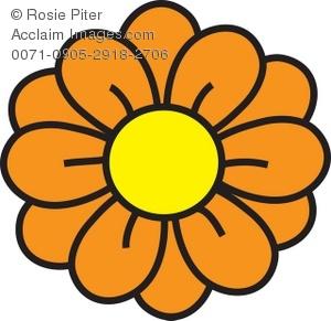 Orange Flower clipart #5, Download drawings