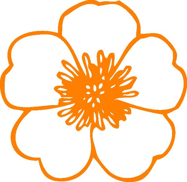 Orange Flower clipart #8, Download drawings