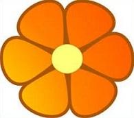 Orange Flower clipart #20, Download drawings