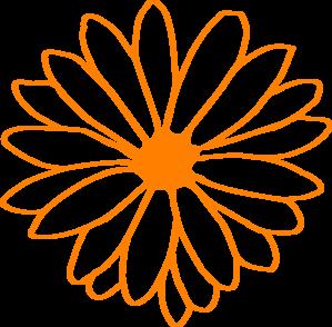 Orange Flower clipart #18, Download drawings