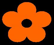 Orange Flower clipart #1, Download drawings