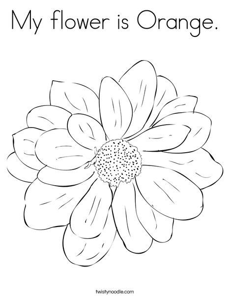Orange Flower coloring #13, Download drawings