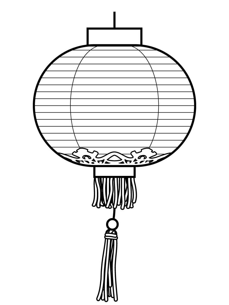 Lantern coloring #15, Download drawings