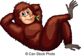 Orangutan clipart #3, Download drawings