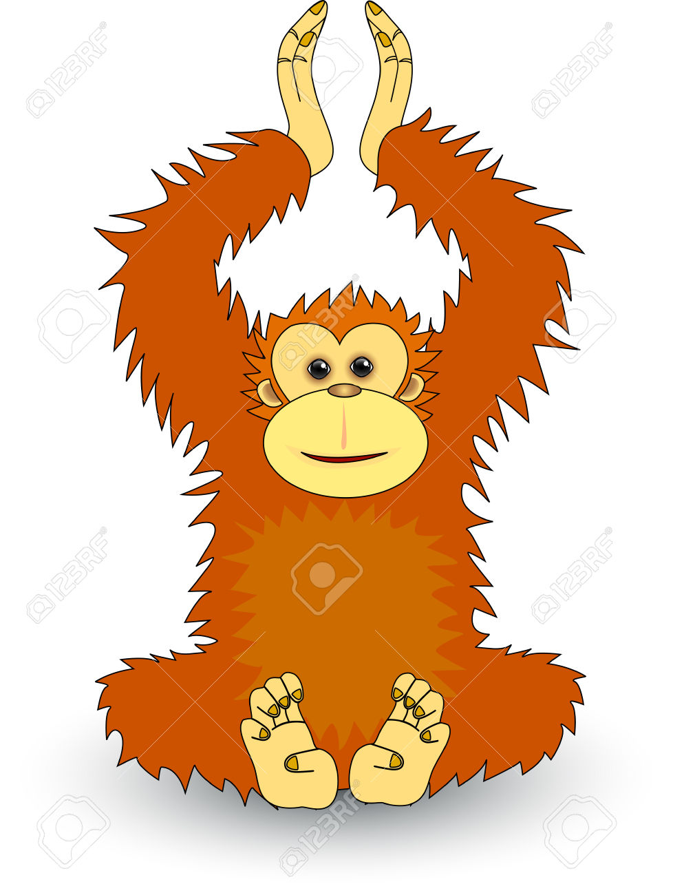 Orangutan clipart #2, Download drawings