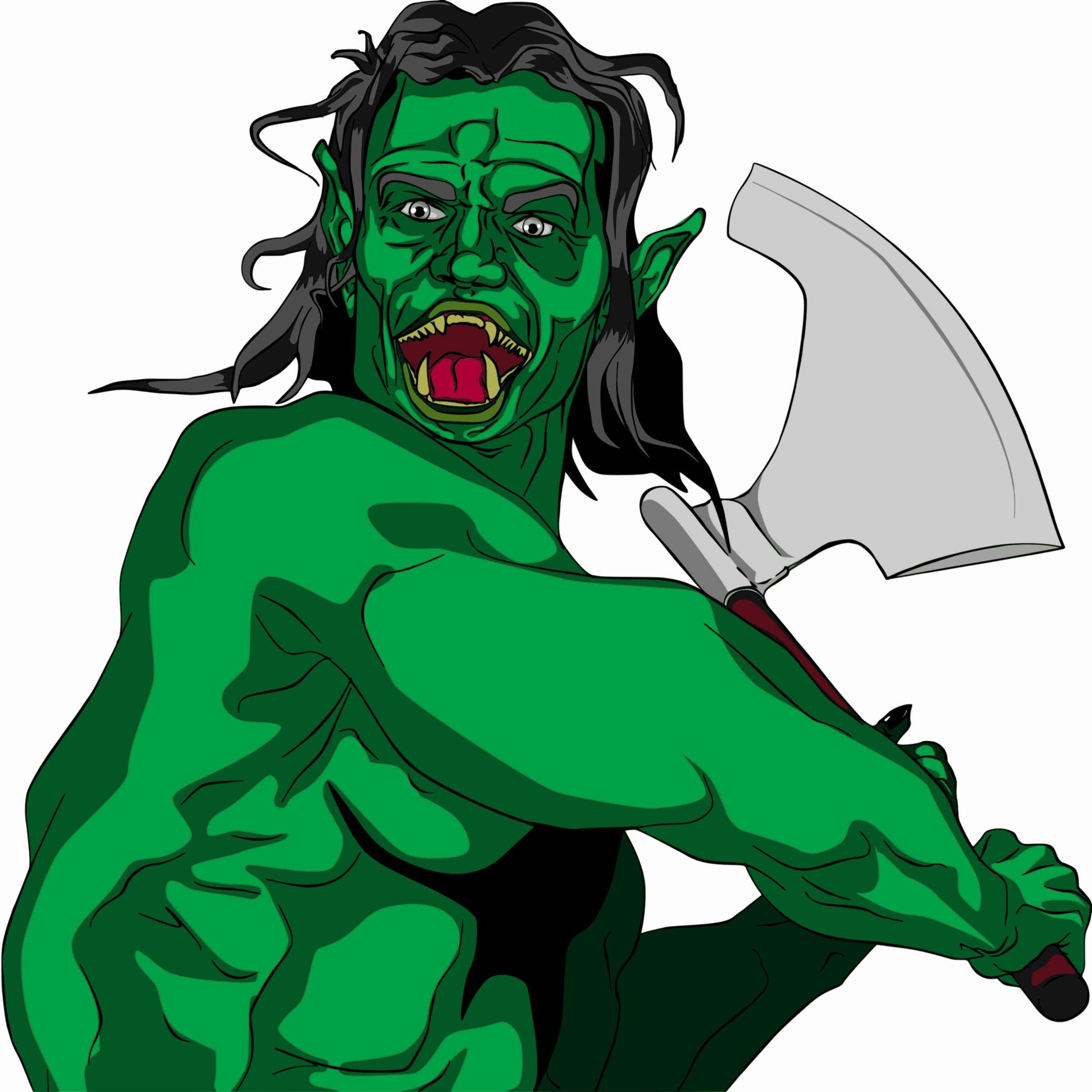 Orc clipart #2, Download drawings
