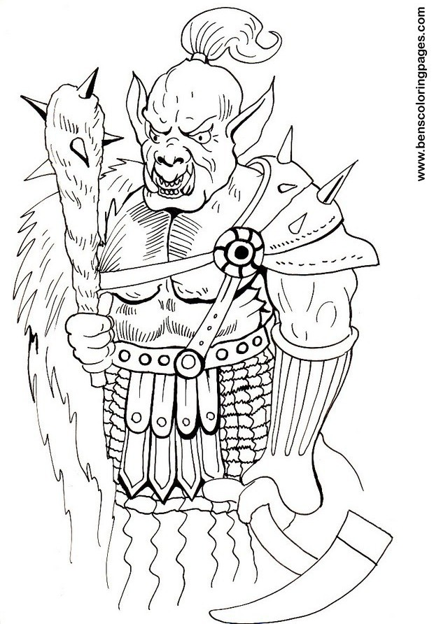Orc coloring #20, Download drawings