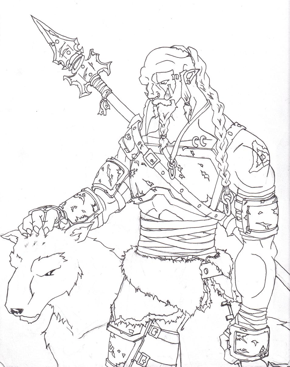 Orc coloring #4, Download drawings
