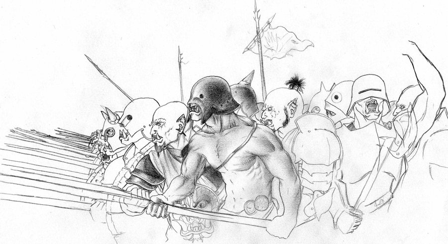 Orc coloring #14, Download drawings