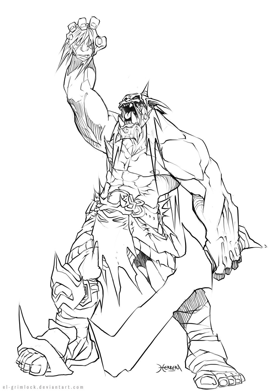 Orc coloring #8, Download drawings